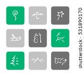 vector flat icons set  ...   Shutterstock .eps vector #531890170