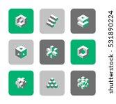 vector flat icons set   cube...   Shutterstock .eps vector #531890224
