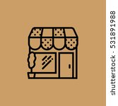shop icon. flat design
