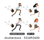 business people running. set 41.... | Shutterstock .eps vector #531892600