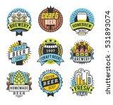 vector line art badge. craft... | Shutterstock .eps vector #531893074