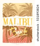 california. palm beach. tee... | Shutterstock .eps vector #531893824