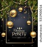 christmas party design template.... | Shutterstock .eps vector #531900016