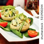artichokes meal prepared with a ... | Shutterstock . vector #531900244