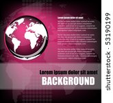 background template with earth  ... | Shutterstock .eps vector #53190199