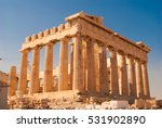 parthenon on the acropolis in... | Shutterstock . vector #531902890