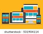 responsive computer design... | Shutterstock .eps vector #531904114