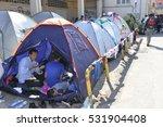 lesvos  greece  october 05 ...   Shutterstock . vector #531904408