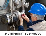repairman during maintenance... | Shutterstock . vector #531908800