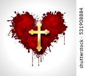 christian cross in the heart | Shutterstock . vector #531908884