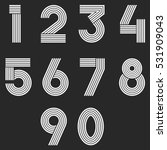 numbers set hipster  parallel... | Shutterstock .eps vector #531909043