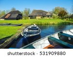 boats in spring in giethoorn  a ... | Shutterstock . vector #531909880
