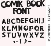 monochrome comic book font in a ... | Shutterstock .eps vector #531912244