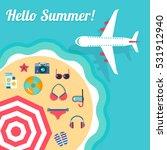 summer holidays on beach vector ... | Shutterstock .eps vector #531912940