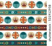 funky british retro  seamless... | Shutterstock .eps vector #531912958