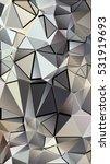randomly scattered triangles of ... | Shutterstock .eps vector #531919693
