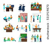 higher education person set of... | Shutterstock .eps vector #531919870
