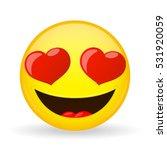 emoji in love. emotion of...   Shutterstock .eps vector #531920059