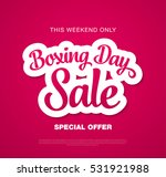 boxing day sale banner | Shutterstock .eps vector #531921988