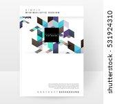 geometric background template... | Shutterstock .eps vector #531924310