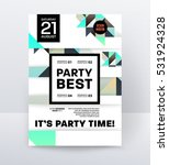 invitation disco party poster... | Shutterstock .eps vector #531924328