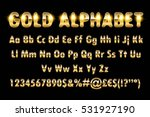 golden alphabet letters numbers ... | Shutterstock .eps vector #531927190