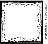 black textured frame with... | Shutterstock .eps vector #531929860
