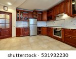 kitchen with appliances and a...   Shutterstock . vector #531932230