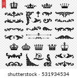 ornate scroll and decorative... | Shutterstock .eps vector #531934534