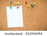 Sticky Note On Cork Board ...