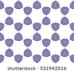 beautiful geometric pattern of... | Shutterstock . vector #531942016