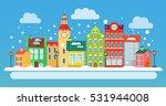 winter urban landscape in flat... | Shutterstock .eps vector #531944008