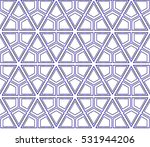 beautiful geometric pattern of... | Shutterstock . vector #531944206