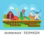 vector agricultural village... | Shutterstock .eps vector #531944224