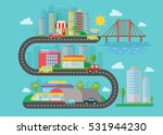 vector urban modern city... | Shutterstock .eps vector #531944230