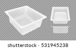 transparent empty plastic... | Shutterstock .eps vector #531945238