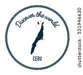 cebu map in vintage discover... | Shutterstock .eps vector #531946630