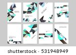 geometric background template... | Shutterstock .eps vector #531948949