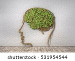 concept of thinking. the green... | Shutterstock . vector #531954544