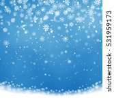christmas snowflakes shining ... | Shutterstock .eps vector #531959173