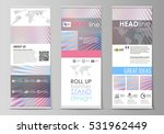 roll up banner stands  abstract ... | Shutterstock .eps vector #531962449