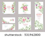 collection of greeting cards... | Shutterstock .eps vector #531962800