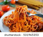 Spaghetti With Minced Beef...