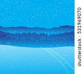 holiday winter landscape... | Shutterstock .eps vector #531969070
