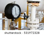 pressure gauge in oil and gas... | Shutterstock . vector #531972328