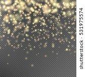 gold glitter particles... | Shutterstock .eps vector #531975574