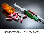 injectables  doping and medical ... | Shutterstock . vector #531975694