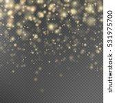 gold glitter particles... | Shutterstock .eps vector #531975700