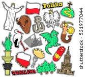 poland travel scrapbook...   Shutterstock .eps vector #531977044