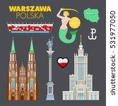 warsaw poland travel doodle...   Shutterstock .eps vector #531977050